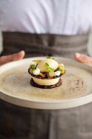 Devonshire Clotted Cream Parfait Golden Raisin | Pear | Sesame
