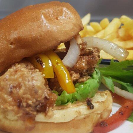 Our Salt & Pepper Chicken Burger 😍