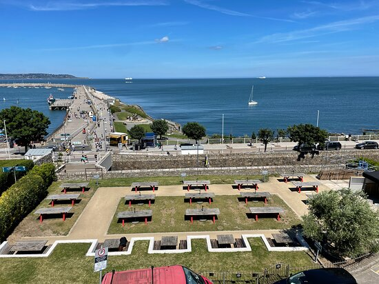A view from our sea view rooms, overlooking the garden