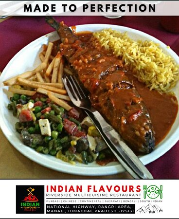 """Himalayan Trout Fish  """"Continental Trout""""  Enjoy @ Indian Flavours Manali"""