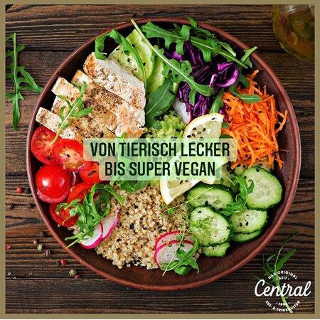 Große Auswahl an vegetarischen/veganen Gerichten