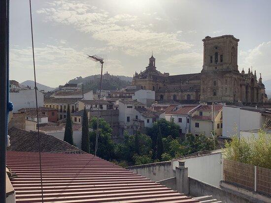 Vista de la Catedral de Granada desde la azotea/terraza.