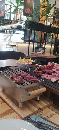 BBQ en mesa