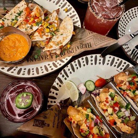 Tacos & Lobster Quesadilla