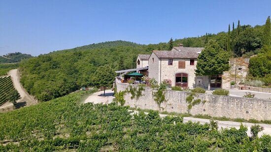 The winery and terrace with the restaurant