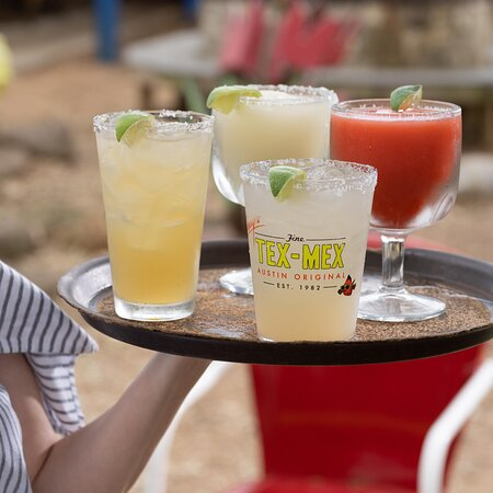 Chuy's margaritas are made with fresh-squeezed lime juice. Try them on the rocks or frozen, swirl or dot.