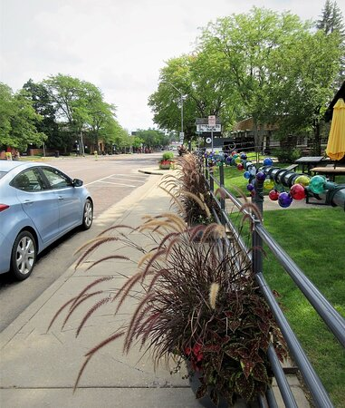 Peoria Heights, IL: N Prospect Rd. Oliver's in the Heights restaurant  grounds (on the right). Fall 2020