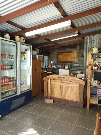 Our office & little shop, We sell, ICE ,FRESH EGGS, FIREWOOD. For bookings please ring  0400191341