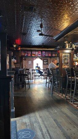 long shot of bar