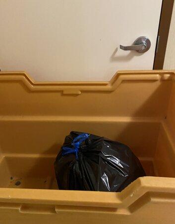 garbage blocking doors