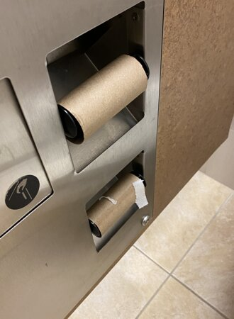 public restroom always out of TP
