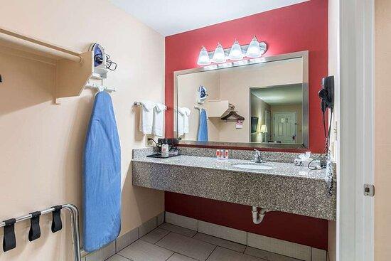 Vanity area in guestroom
