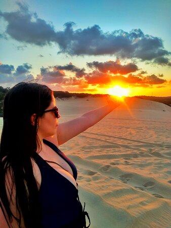 Por do sol maravilhoso em Genipabu.
