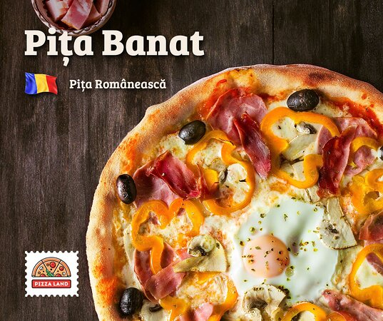 Try traditional romanian pizza with mozzarella, salami, homemade ham, mushrooms, bell peppers, egg cap, olives and .. romanian bacon.