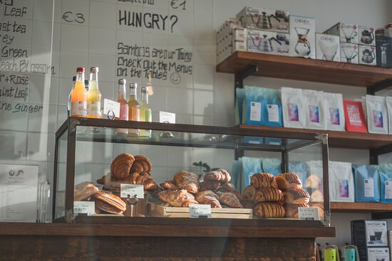 Our selection of pastries, breads and treats. We also have retail coffee and brewing equipment available on our shelves in store and online.