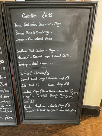 Reedham, UK: Menus and burger