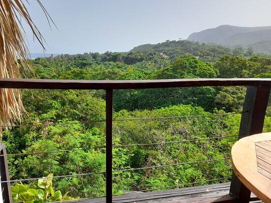 Hermosa vista desde el balcón.