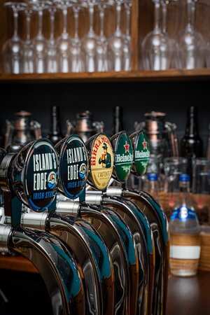 Selection of beers on draught and craft bottles / cans available