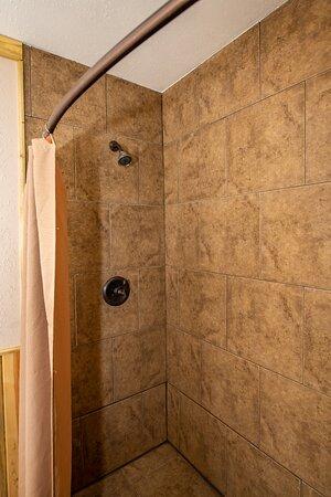 Walk-in showers in rooms 2,4,5,6