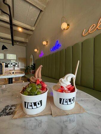 Ya hacía falta una heladería así en Cancún ⭐️ El servicio, el ambiente, la calidad de los helados, el sabor, la variedad de toppings son simplemente lo mejor 🤍