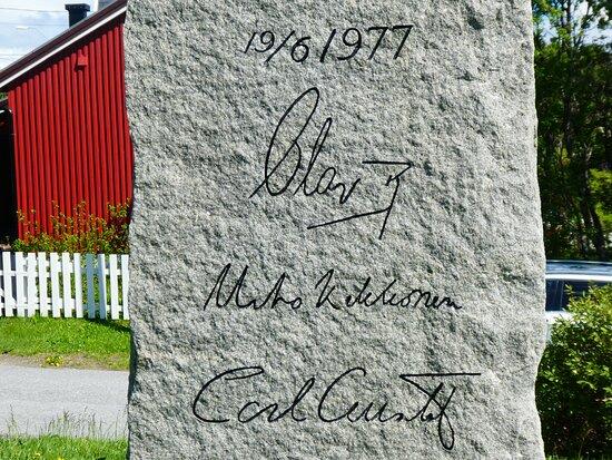 Kong Olav 5 har vore her + finsk president og svensk konge