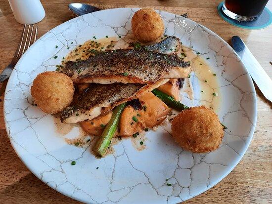Main course: pan-fried fish