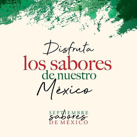 """¡Ha llegado el mes patrio, y no podemos estar más orgullosos de ser mexicanos! 🇲🇽🙌🏻 Y por supuesto queremos celebrar con todos nuestros amados comensales y amigos. 😊  Este mes de septiembre disfruta una experiencia gastronómica única y deliciosa, inspirada en nuestras hermosas raíces mexicanas, 😍🔥 se parte de la experiencia """"Septiembre Sabores de México"""", donde serás testigo de un viaje culinario y exquisitos maridajes de la mano de nuestros chefs y mixólogos invitados. ¡Viva México! 🇲🇽"""