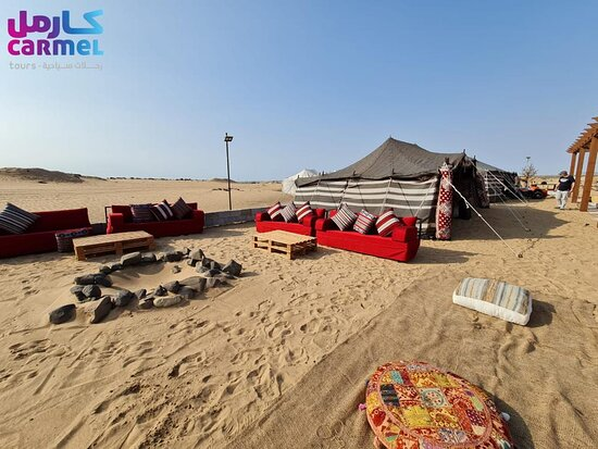 OUR OWN CARMEL DESERT CAMP Are you ready to experience moments that will last a lifetime? Get in touch with carmeltours to learn More is a must-do Desert safari is a must in Jeddah! The desert is the ideal venue for a magical and memorable evening. Watch the sun go down as you drive through the dunes to arrive at our traditional Bedouin style camp where a delicious dinner awaits. Leave your hotel,home and the city behind driving into the desert with our entertaining safari guide in four-wheel dr