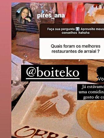 Clientes prestigiando e satisfeitos com o Boiteko em Arraial d'Ajuda BA!