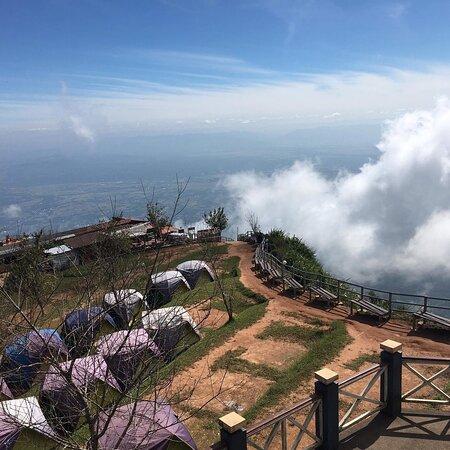 Atmosphere on the highest peak of Phu Thap Boek