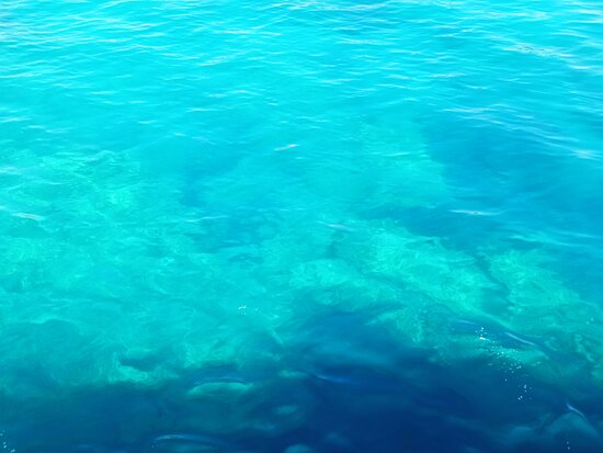 Crystal clear water in Blue Lagoon