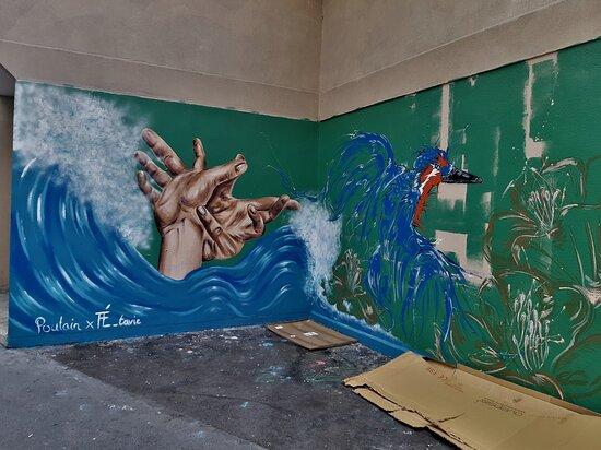 "Fresque ""un Chemin De Vie"""