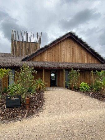 The entrance to Samburu Lodge