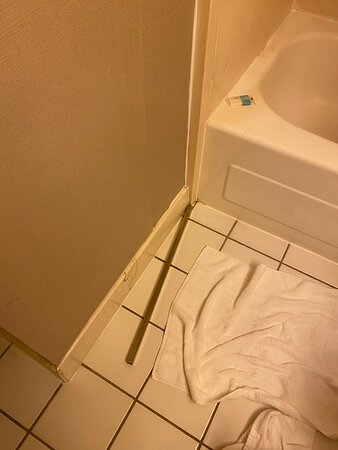 Towel rack fell off when I went to shower