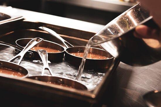 Crème brûlée au chocolat et porto