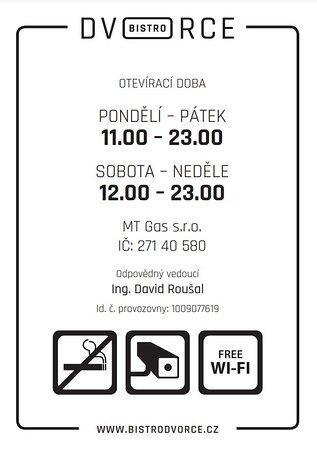 Provozní doba od 1.9.2021