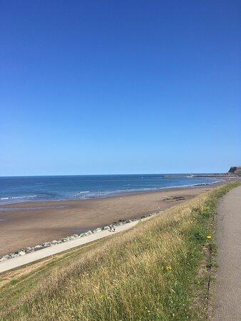 Whitby Beach & Blue Skies