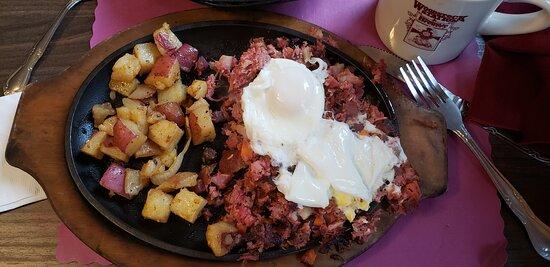 The absolute BEST corned beef hash breakfast!