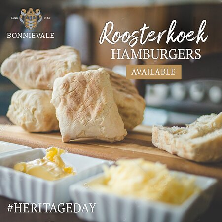 Don't miss out!  Heritage Day roosterkoek hamburgers for sale Time: Business hours Cost: R50