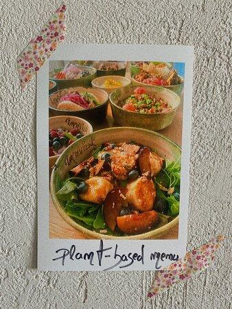 """improvizat - plant-based menu"""