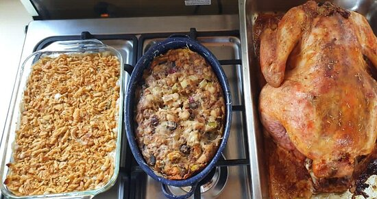 A traditional American Thanksgiving meal is served each November.