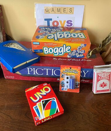 We have board games, toys for kids, and yard games for all so you can come spend the day relaxing.