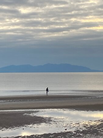 The Isle of Arran from the promenade,