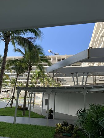 View of construction from swim up suite