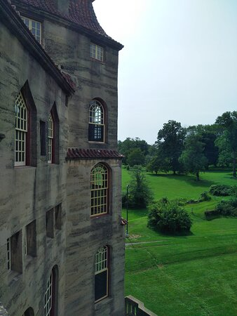 View of Fonthill from the terrace in the back