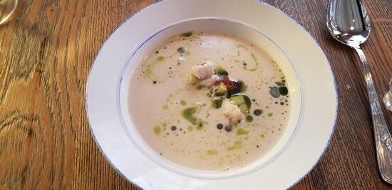 Perch et al, with halibut soup