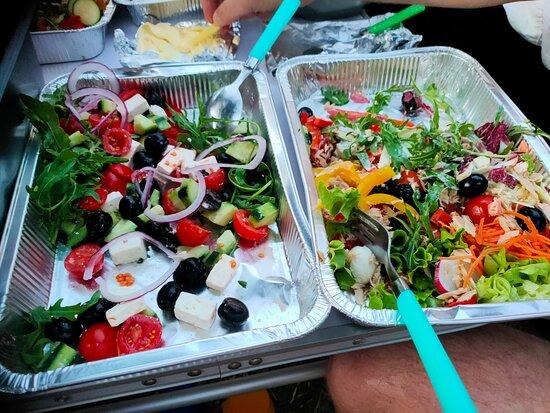 Salades van de afhaal