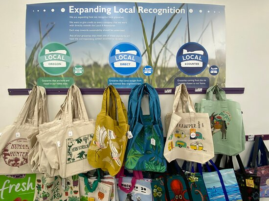 Reusable totes and our local designations