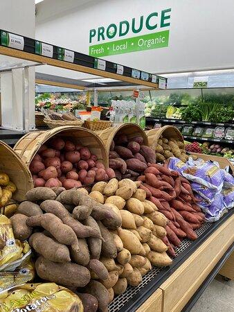 Yams and potatoes