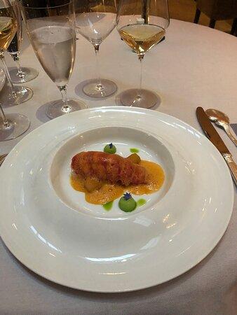 Inventive lobster dish